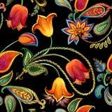 Modelo de Paisley de la flor de la acuarela Fondo indio inconsútil del adorno libre illustration