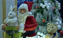 Modelo de Papai Noel Imagens de Stock Royalty Free
