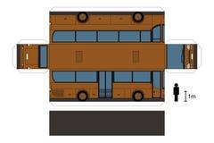 Modelo de papel de um ônibus ilustração do vetor