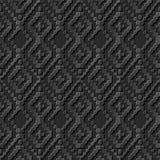 Modelo de papel oscuro elegante inconsútil 256 Dot Line Cross Check del arte 3D Fotografía de archivo libre de regalías