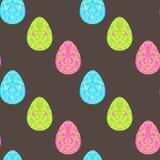 Modelo de Pascua con los huevos Vector el modelo inconsútil Imagen de archivo