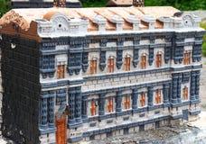 Modelo de pedra da construção da história antiga Fotos de Stock Royalty Free