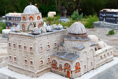 Modelo de pedra da construção da história antiga Imagem de Stock