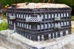 Modelo de pedra da construção da história antiga Fotografia de Stock Royalty Free