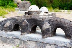 Modelo de pedra da construção da história antiga Fotografia de Stock