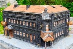 Modelo de pedra da construção da história antiga Foto de Stock Royalty Free
