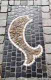 Modelo de piedra de los pescados Fotografía de archivo