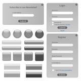 Modelo de plata del Web Fotografía de archivo libre de regalías