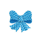 Modelo de punto adornado arco azul del vector aislado Foto de archivo libre de regalías