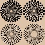 Modelo de puntos de semitono fijado en formato del vector ilustración del vector