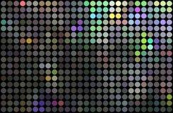 Modelo de puntos del mosaico del metal del holograma Fondo del partido de disco del reflejo Lunares de plata del brillo ilustración del vector