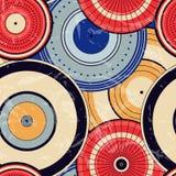 Modelo de puntos inconsútil del círculo del otoño japonés Imagen de archivo