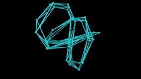 modelo de quadro de fio do nó do toro - rendição 3D filme