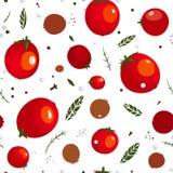 Modelo de Rad Canned Spicy Tomato Seamless Foto de archivo libre de regalías