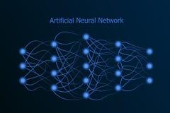 Modelo de red neuronal con sinapsis reales entre las neuronas libre illustration