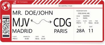 Modelo de Redector de un boleto del documento de embarque fotos de archivo