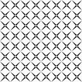 Modelo de rejilla cuadrado blanco y negro abstracto inconsútil - el diseño de semitono del fondo del vector de la diagonal redond ilustración del vector