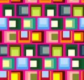 Modelo de repetición inconsútil de cuadrados coloreados Vector Foto de archivo