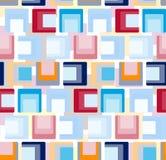 Modelo de repetición inconsútil de cuadrados coloreados Vector Imagenes de archivo