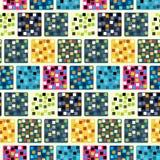 Modelo de repetición inconsútil de cuadrados coloreados Vector Foto de archivo libre de regalías