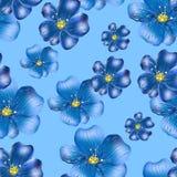 Modelo de repetición inconsútil de wildflowers Fotografía de archivo