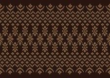 Modelo de seda de Brown del paño Foto de archivo