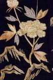 Modelo de seda japonés tradicional de Japón del kimono del vintage en decoros Imagen de archivo libre de regalías