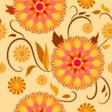 Modelo de Semaless de flores decorativas Foto de archivo libre de regalías