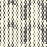Modelo de semitono inconsútil Parte posterior geométrica blanco y negro del vector Foto de archivo libre de regalías