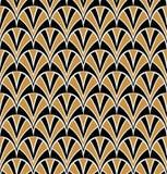 Modelo de Shell Seamless del vector Textura abstracta elegante del art déco stock de ilustración