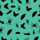 Modelo de siluetas de insectos Ilustración del vector Drenaje a mano Fotografía de archivo libre de regalías