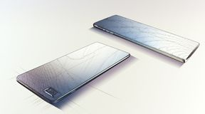 Modelo de Smartphone Foto de Stock