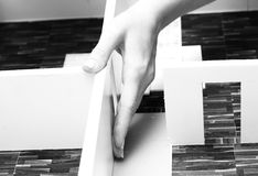 Modelo de tablero para cortar el pan de un interior Imagen de archivo libre de regalías