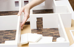 Modelo de tablero para cortar el pan de un interior Imagen de archivo