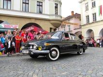 Modelo 1968 2-603 de Tatra 603 durante a celebração anual de Novy J foto de stock