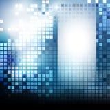 Modelo de Techno con los cuadrados azules Fotografía de archivo libre de regalías