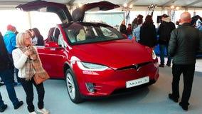 Modelo X de Tesla video estoque