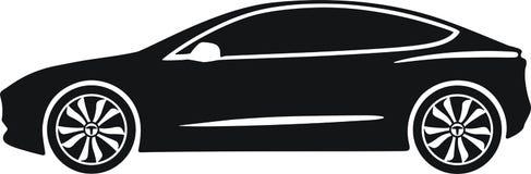 Modelo 3 de Tesla Imagens de Stock
