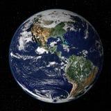 Modelo de tierra - opinión de los E.E.U.U. ilustración del vector