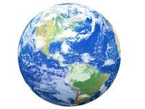 Modelo de tierra: Opinión de los E.E.U.U. stock de ilustración