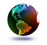 Modelo de tierra: Opinión de los E.E.U.U. Fotos de archivo libres de regalías