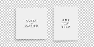 Modelo de um compartimento ou de um catálogo paisagem-orientado Folha de papel em branco Elemento para o anúncio e a mensagem rel ilustração do vetor