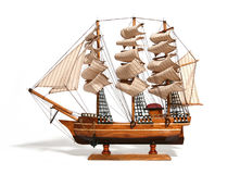 Modelo de um navio histórico fotografia de stock