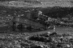 Modelo de um tanque de sherman imagens de stock royalty free