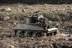 Modelo de um tanque de sherman Fotografia de Stock