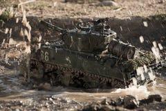 Modelo de um tanque de sherman imagem de stock