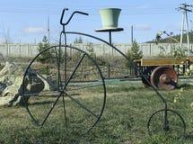 Modelo de uma bicicleta, retro Foto de Stock