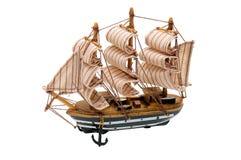 Modelo de un barco de vela Imágenes de archivo libres de regalías