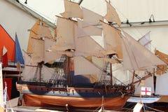 Modelo de un barco de vela Fotos de archivo