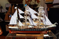 Modelo de un barco de vela Foto de archivo